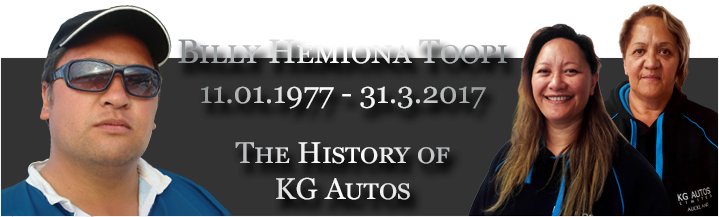 Billy Hemiona Toopi - The History of KG Autos Ltd